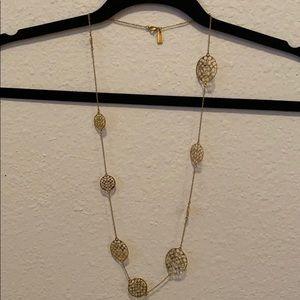 COACH Gold Logo Necklace